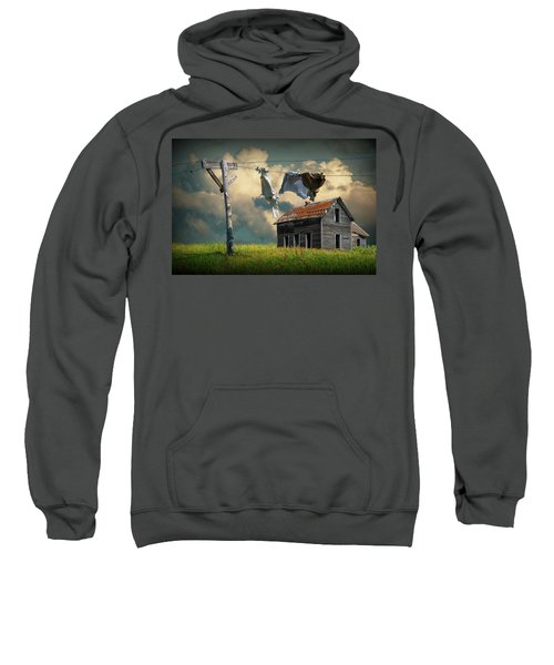 Wash On The Line By Abandoned House Sweatshirt