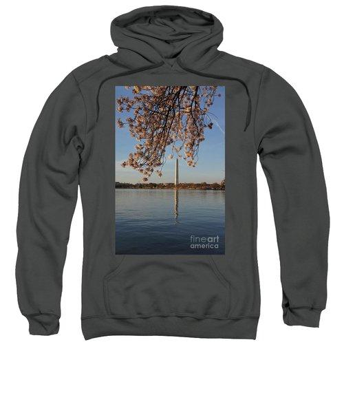 Washington Monument With Cherry Blossoms Sweatshirt