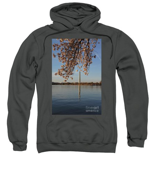 Washington Monument With Cherry Blossoms Sweatshirt