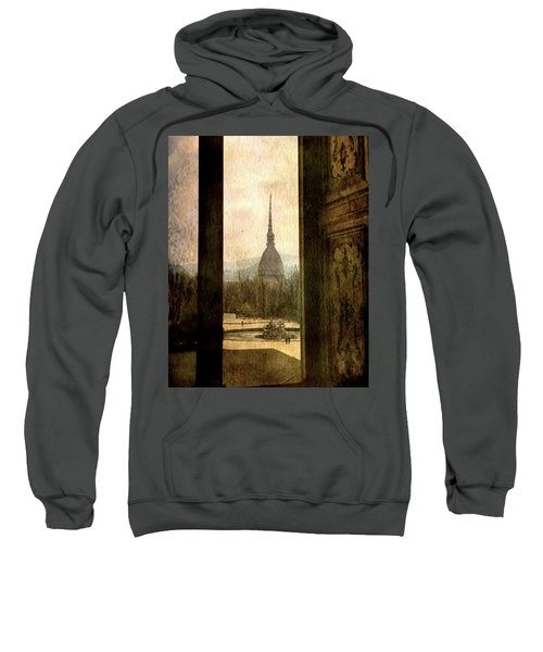 Watching Antonelliana Tower From The Window Sweatshirt
