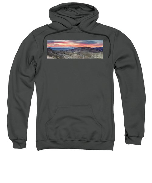 Watching The Sunrise From Dante's View - Black Mountains Death Valley National Park California Sweatshirt