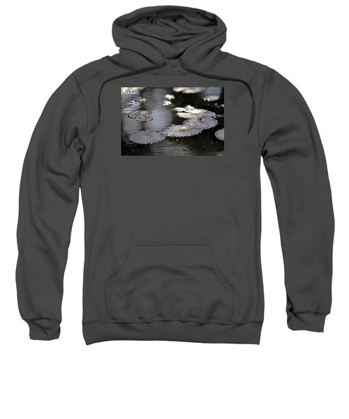 Sweatshirt featuring the photograph Water And Leafs by Dubi Roman