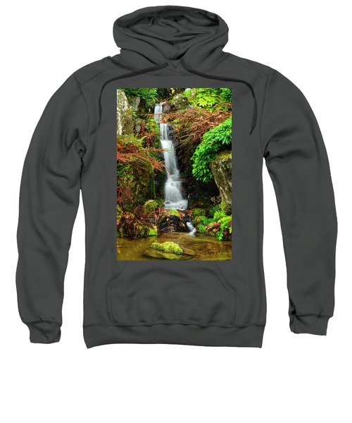 Waterfall At Kubota Garden Sweatshirt