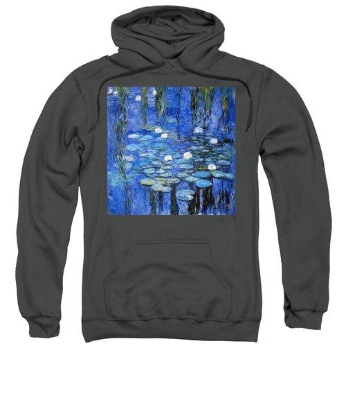 water lilies a la Monet Sweatshirt