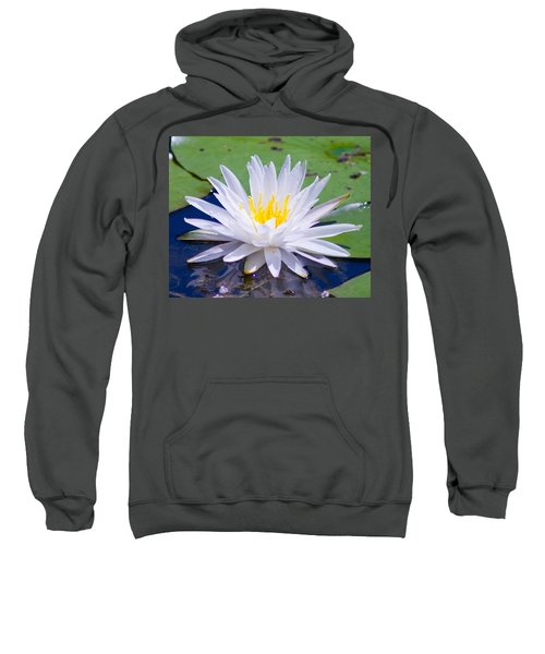 Sweatshirt featuring the photograph Water Lily by Bill Barber