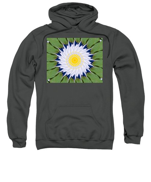 Sweatshirt featuring the photograph Water Lily Kaleidoscope by Bill Barber