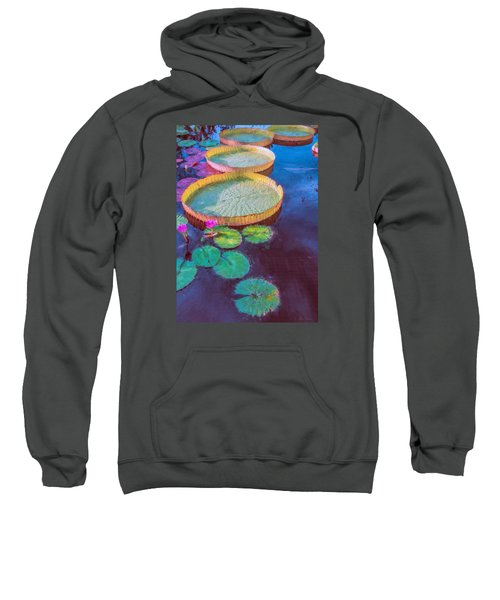 Water Lily Pattern Sweatshirt