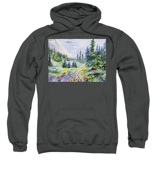 Watercolor - Colorado Summer Scene Sweatshirt