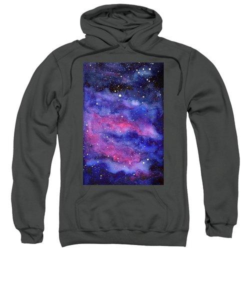 Watercolor Galaxy Pink Nebula Sweatshirt