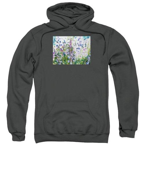 Watercolor - Lupine Wildflowers Sweatshirt
