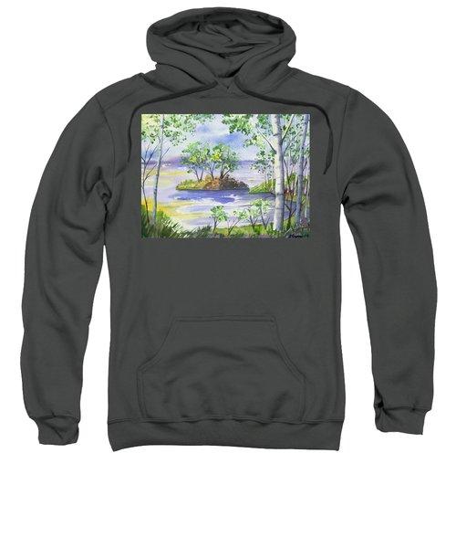 Watercolor - Minnesota North Shore Landscape Sweatshirt