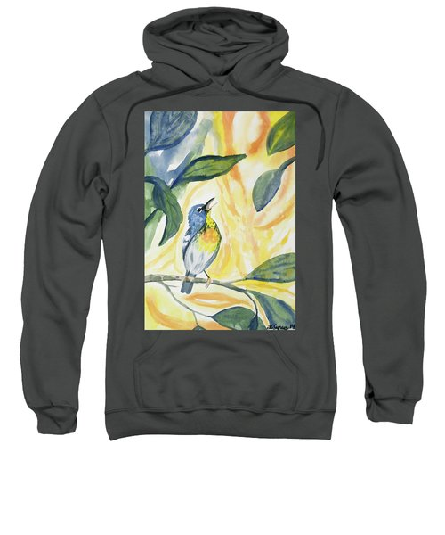 Watercolor - Northern Parula In Song Sweatshirt