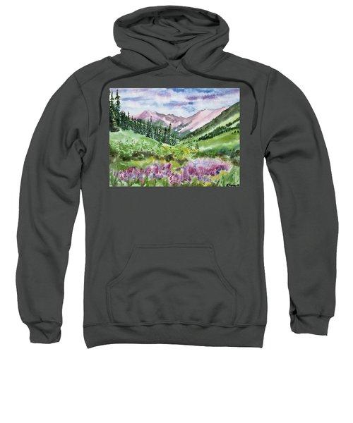 Watercolor - San Juans Mountain Landscape Sweatshirt