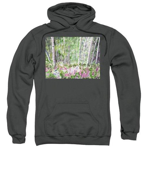 Watercolor - Summer Aspen Glade Sweatshirt