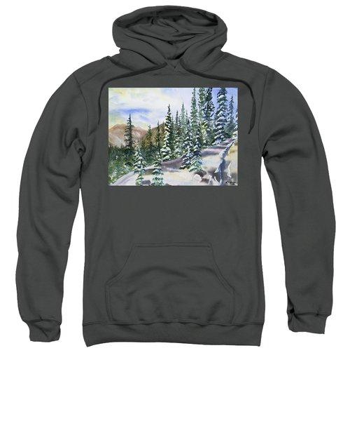 Watercolor - Winter Snow-covered Landscape Sweatshirt