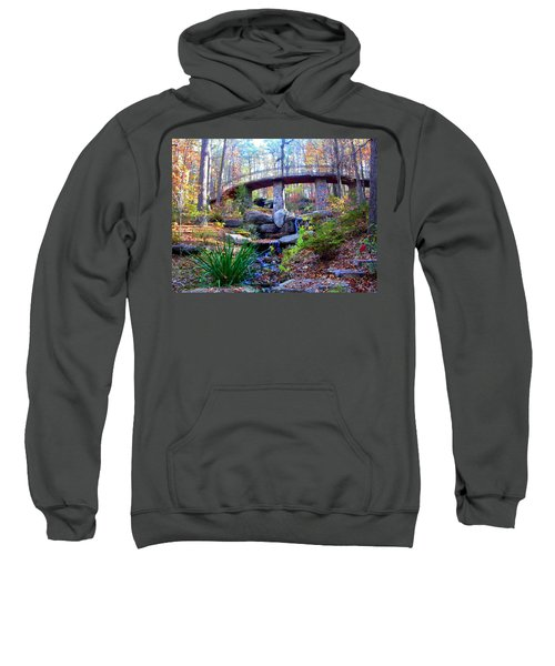 Waterfall And A Bridge In The Fall Sweatshirt