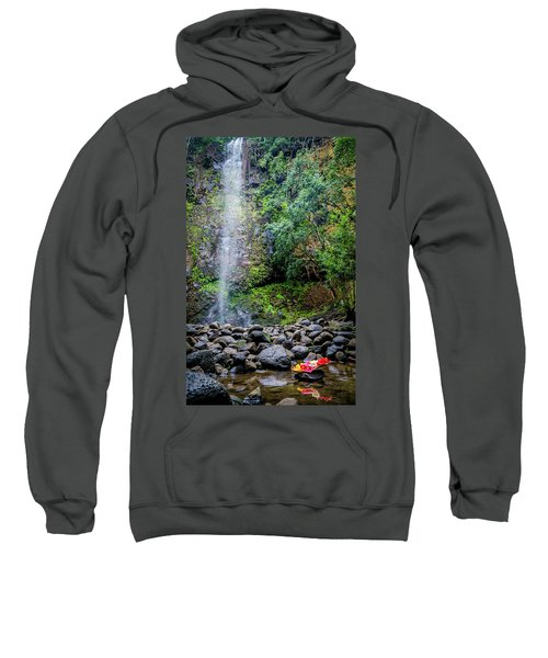 Waterfall And Flowers Sweatshirt