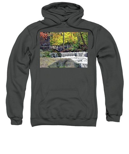 Waterfall At Olmsted Falls - 1 Sweatshirt