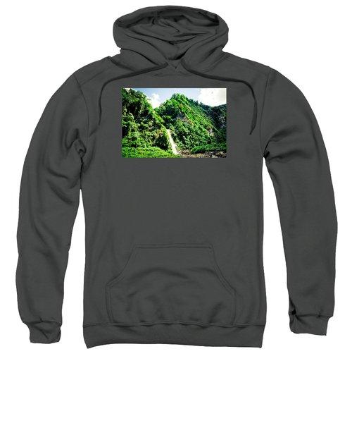 waterfall Himalayas mountains NEPAL Sweatshirt