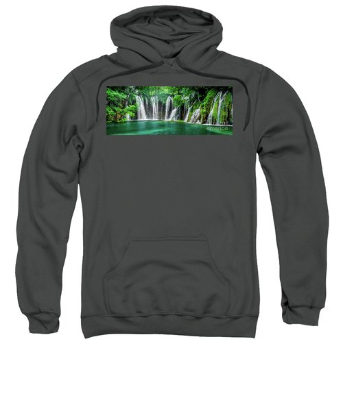 Waterfalls Panorama - Plitvice Lakes National Park Croatia Sweatshirt