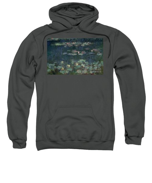 Waterlilies Green Reflections Sweatshirt