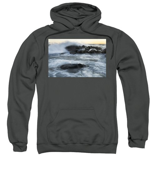 Wave Crashes Rocks 7835 Sweatshirt