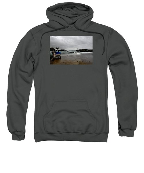 Sweatshirt featuring the photograph Waves Azores-033 by Joseph Amaral