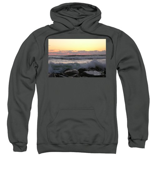 Waves Over The Rocks  5-3-15 Sweatshirt