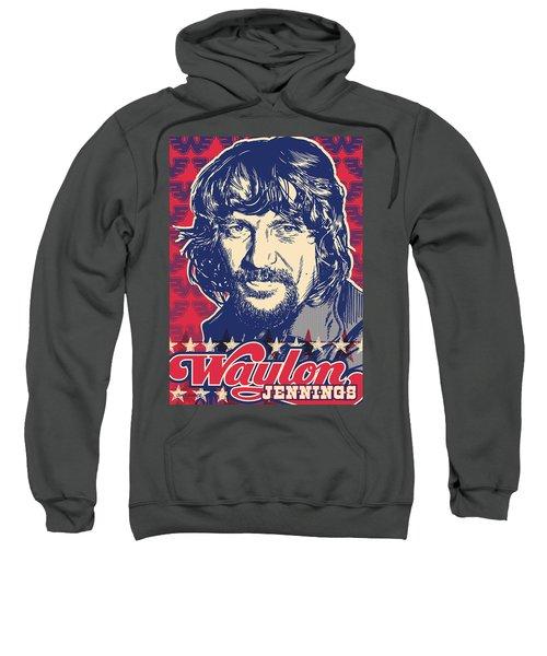 Waylon Jennings Pop Art Sweatshirt by Jim Zahniser
