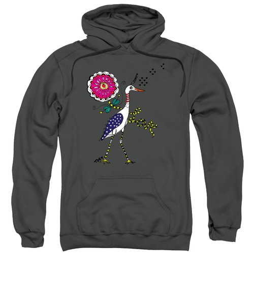 Weak Coffee Lovebird Sweatshirt by Tara Griffin