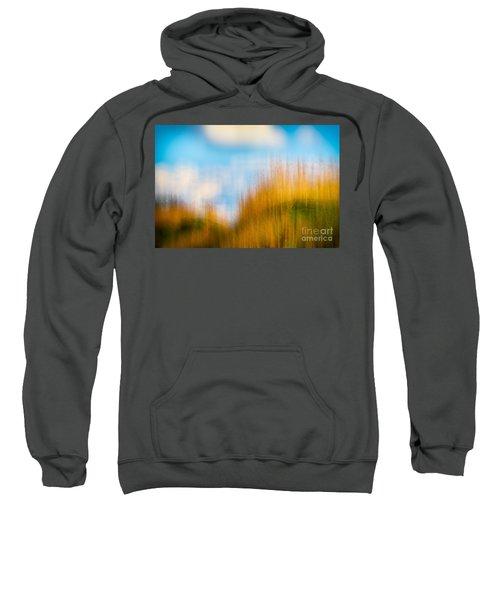 Weeds Under A Soft Blue Sky Sweatshirt