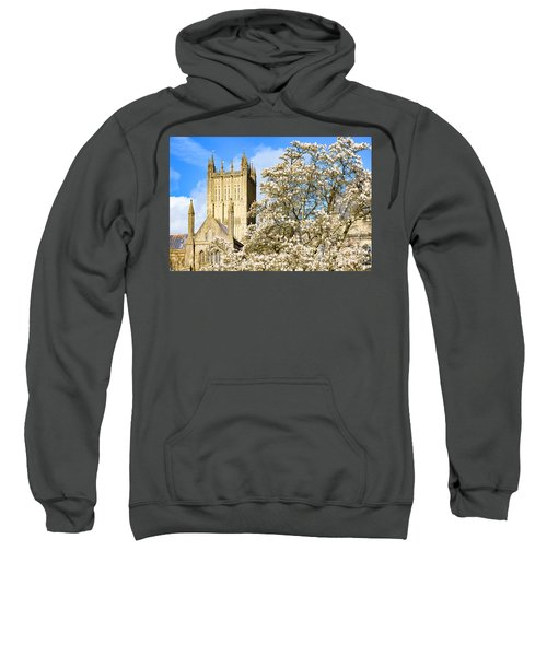 Wells Cathedral And Spring Blossom Sweatshirt