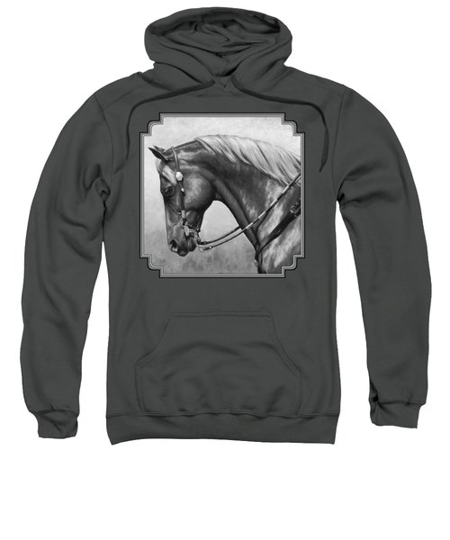 Western Horse Black And White Sweatshirt