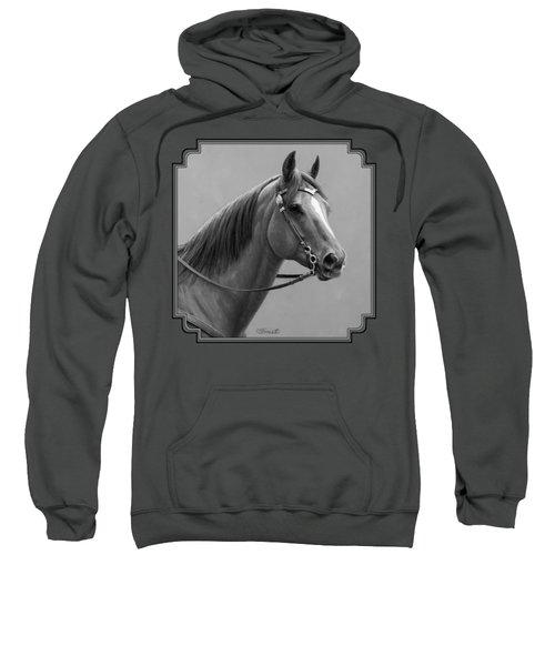 Western Quarter Horse Black And White Sweatshirt