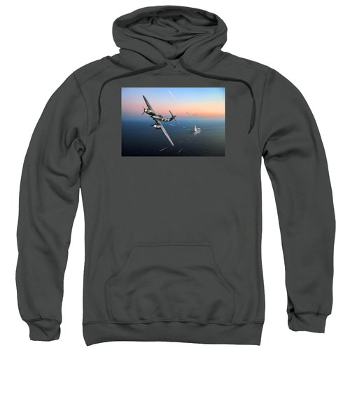 Sweatshirt featuring the photograph Westland Whirlwind Attacking E-boats by Gary Eason