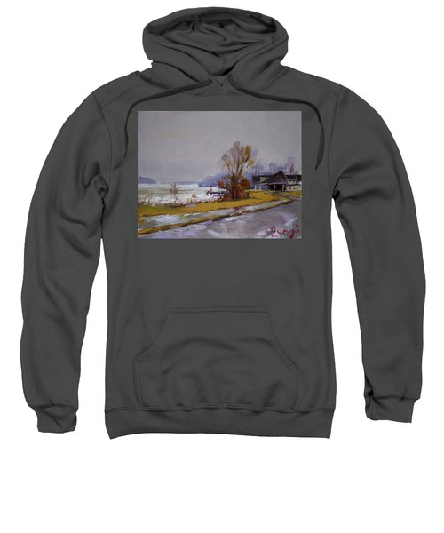 Wet And Icy At Gratwick Waterfront Park Sweatshirt