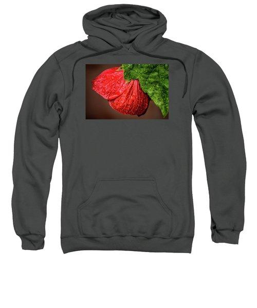 Wet Flower-abutilon Sweatshirt