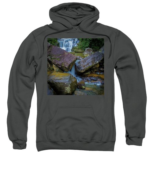 Sweatshirt featuring the photograph Wet Rocks 3, Sri Lanka, 2012 by Hitendra SINKAR