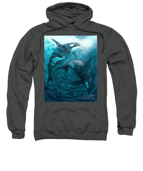 Whales  Ascending  Descending Sweatshirt