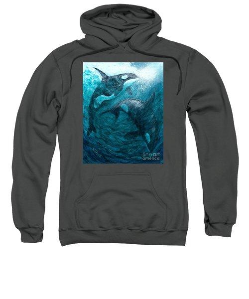 Whales  Ascending  Descending Sweatshirt