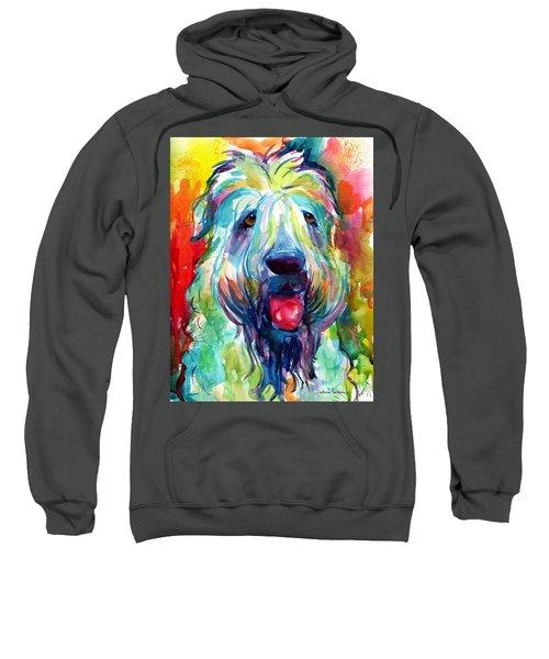 Wheaten Terrier Dog Portrait Sweatshirt