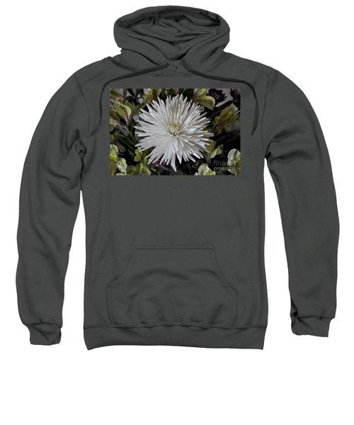White Chrysanthemum Sweatshirt