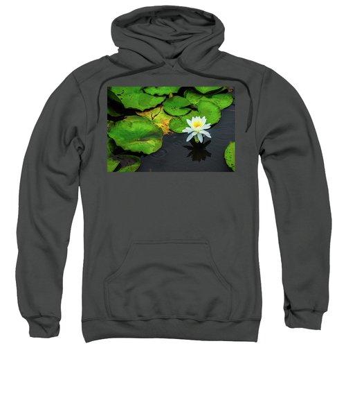 White Lily And Rippled Water Sweatshirt