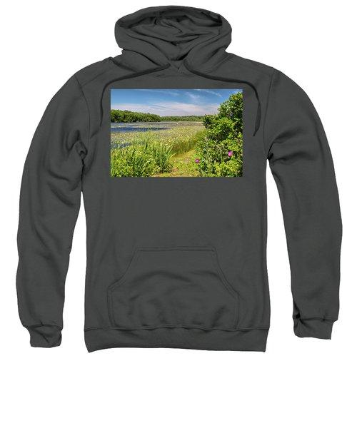 White Lily Pond  Sweatshirt