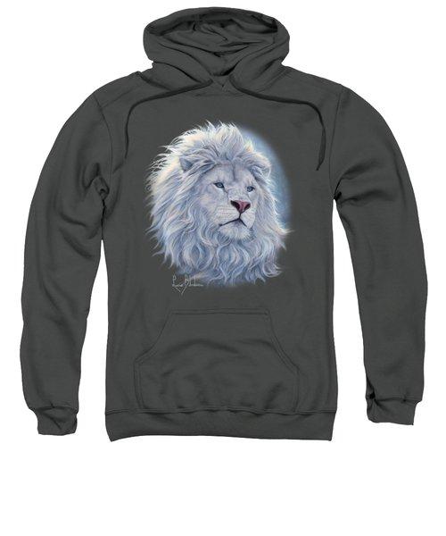 White Lion Sweatshirt by Lucie Bilodeau