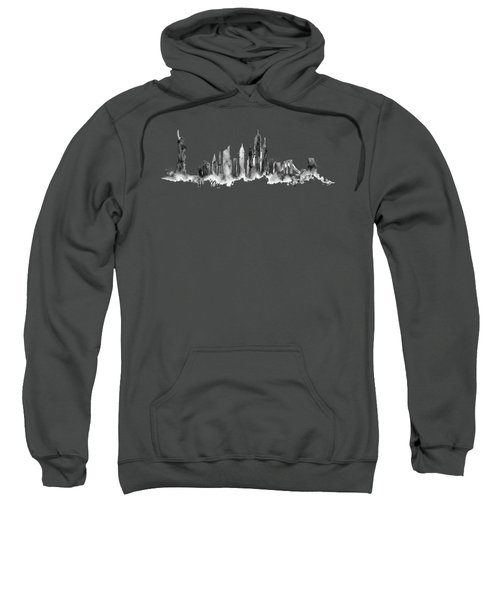 White New York Skyline Sweatshirt by Aloke Creative Store