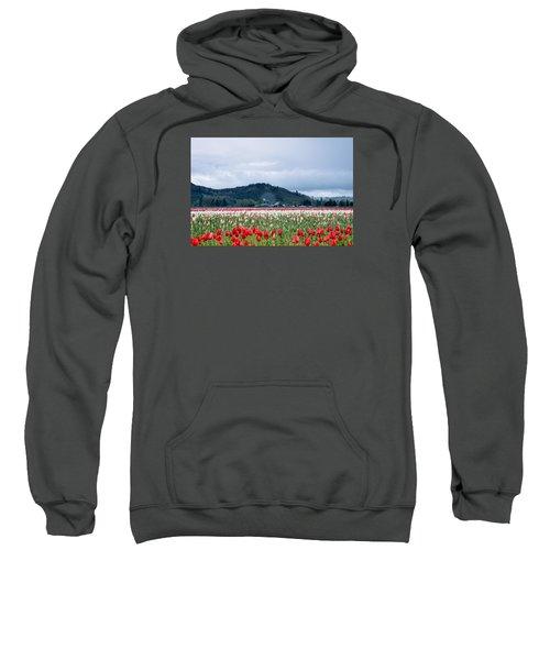 White Pass Highway With Tulips Sweatshirt