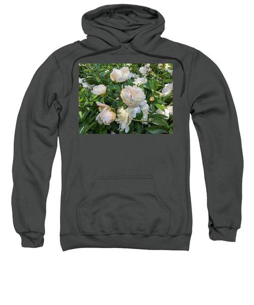 White Peonies In North Carolina Sweatshirt
