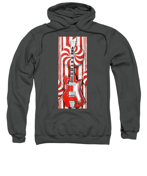 White Stripes Guitar Sweatshirt