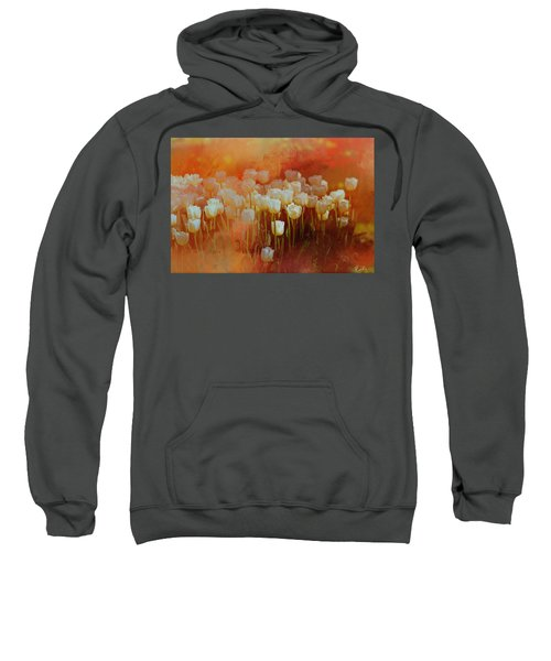 White Tulips Sweatshirt